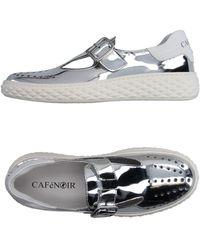CafeNoir Loafers - Metallic