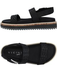 Vicini Tapeet Sandals - Black