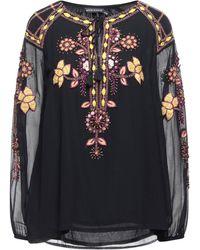 Antik Batik Blusa - Negro