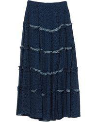 be Blumarine Long Skirt - Blue
