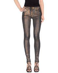75 Faubourg Denim Trousers - Metallic