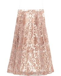 Marchesa notte Long Skirt - Pink