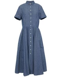 Aspesi 3/4 Length Dress - Blue