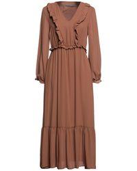 Angela Davis Midi Dress - Brown