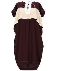 Carven Short Dress - Purple