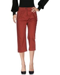 Novemb3r - 3/4-length Trousers - Lyst