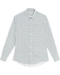 Grey Daniele Alessandrini Shirt - Blue