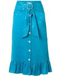 Art Dealer 3/4 Length Skirt - Blue