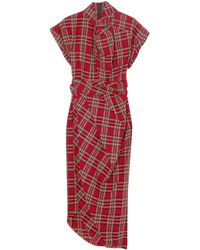 A.W.A.K.E. MODE Vestido midi - Rojo