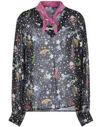 Ultrachic Star Print Blouse - Black