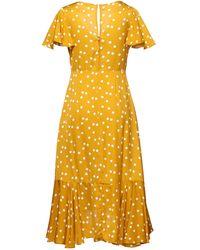 Naf Naf Midi Dress - Yellow