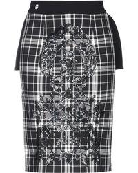 Philipp Plein Knee Length Skirt - Black
