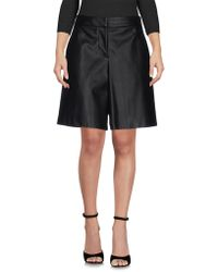 Blue Les Copains Bermuda Shorts - Black
