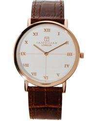 Tateossian - Guilloché Leather-Strap Watch - Lyst