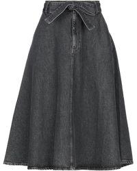 American Vintage Jupe en jean - Gris