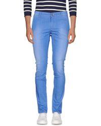 Grey Daniele Alessandrini Denim Trousers - Blue