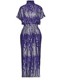 Dries Van Noten 3/4 Length Dress - Purple