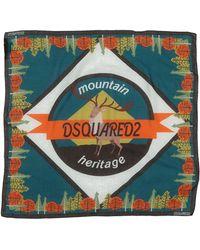DSquared² Square Scarf - Blue