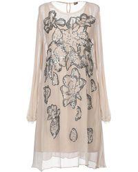 Maliparmi Short Dress - Natural
