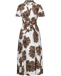 Caractere 3/4 Length Dress - White