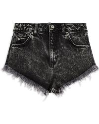 TOPSHOP Denim Shorts - Black