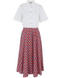 Niu Midi Dress - White