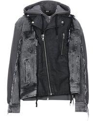 DIESEL Denim Outerwear - Black