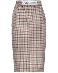 Filles A Papa 3/4 Length Skirt - Multicolour