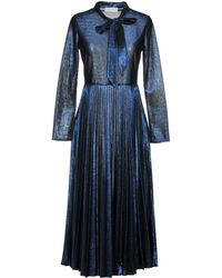 Aglini 3/4 Length Dress - Blue
