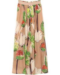 Manila Grace Long Skirt - Green
