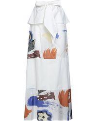 Manila Grace Long Skirt - White