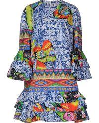 Stella Jean Short Dresses - Blue