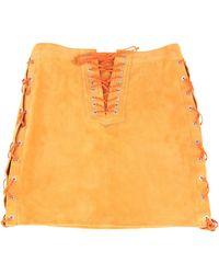 Unravel Project Mini Skirt - Orange