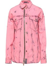 Versace - Camicia jeans - Lyst