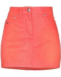 Ice Iceberg Denim Skirt - Orange