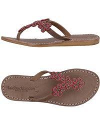 Laidbacklondon Toe Post Sandal - Brown