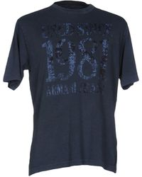 Armani Jeans T-shirts - Blau