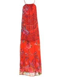 Desigual Langes Kleid - Rot