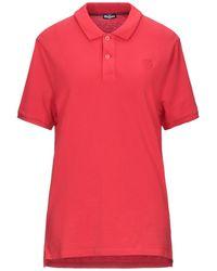 Blauer Poloshirt - Rot