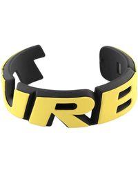 Balenciaga Turbo Badge Bracelet - Yellow