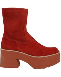 Paloma Barceló Ankle Boots - Red