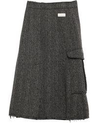 Nine:inthe:morning 3/4 Length Skirt - Black