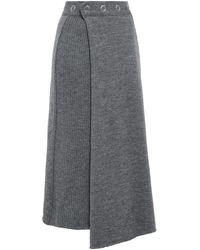 Pringle of Scotland 3/4 Length Skirt - Grey