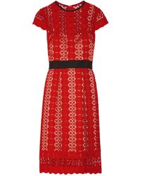 Catherine Deane Robe aux genoux - Rouge