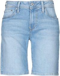 Pepe Jeans - Jeansbermudashorts - Lyst