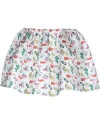 Au Jour Le Jour Mini Skirt - White