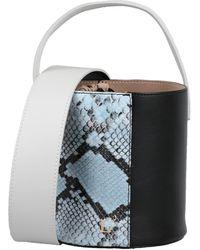 L'Autre Chose Snakeskin Effect Bucket Bag - Blue