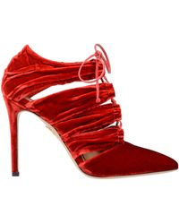 Charlotte Olympia Ankle Boots - Red