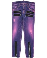 DSquared² Denim Trousers - Purple