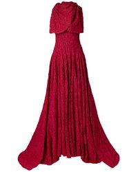 Brandon Maxwell Vestido largo - Rojo